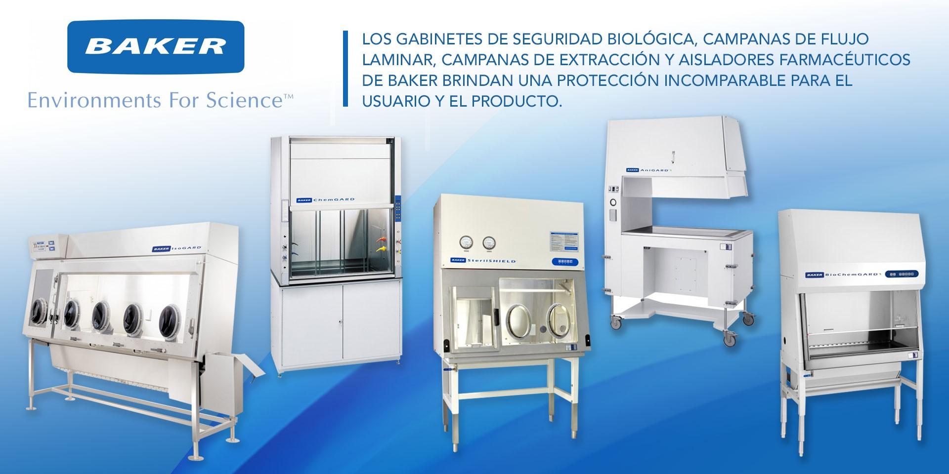 Gabinete de Seguridad Biológica, Gabinete de Flujo laminar, Campana de Flujo laminar, Gabinete de polipropileno, Baker
